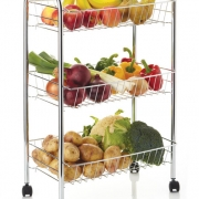 three tier vegeatable rack/trolley