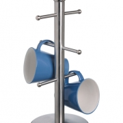 brushed stainless steel mug tree