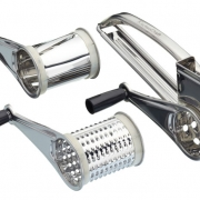 kitchen craft stainless steel rotary grater with 3 drums