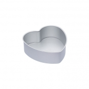 Silver Anodised Heart Shaped Cake Pan