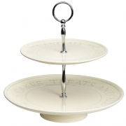 Classic collection two tier cake stand